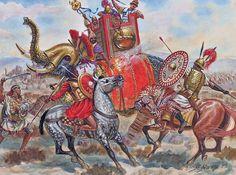 Elefantes cartagineses durante la revuelta de los mercenarios, 238 AC. Más en www.elgrancapitan.org/foro
