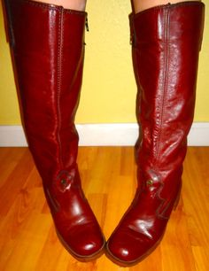 5275b27cb041 RESERVED Etienne AIGNER Riding Boots w  Heel 70s 80s Campus Chic Oxblood  Leather Rubber Sole Zip Up Shoes Made in Italy Size 10 M 40