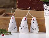 Holiday ornaments. Eine Reihe von 3 Schneemann