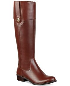 Tommy Hilfiger Dalyn Wide Calf Riding Boots - Wide Calf Boots - Shoes - Macy's