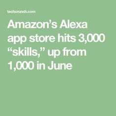 """Amazon's Alexa app store hits 3,000 """"skills,"""" up from 1,000 in June"""