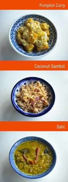 Sri Lankan pumpkin curry and coconut symbol...my favorite food.