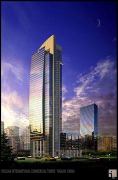 Youlian International Commercial Tower in Tianjin, China