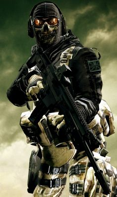 """Simon """"Ghost"""" Riley with his ACW-R. He may have been killed by Shepard, but his spirit lives on. Garry's ModGIMP The Legend of Ghost Military Police, Military Art, Call Of Duty, Ghost Soldiers, Military Special Forces, Future Soldier, Army Soldier, Special Ops, Modern Warfare"""