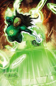 """Green Lanterns # 4 Planeta Rojo"""" la cuarta parte!  No hay escape de la rabia que crece en todo el mundo, como el nuevo verde de las linternas Jessica Cruz y Simon Baz enfrentar Bleez.  Pero sin formación, sin copia de seguridad y no hay salida, los socios de los Green Lantern Corps también se encuentran fuera de opciones."""