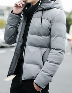 ZXFHZS Mens Removable Hoodies Jacket Lightweight Packable Puffer Down Coat
