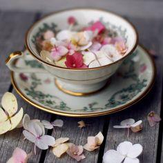 flower and tea