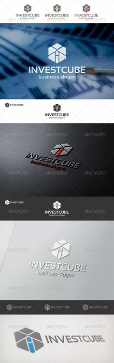 Cube Invest Logo Template – Investment or Marketing Company Logo – This is a simple, elegant and customizable logo, suitable for business, corporate, marketing, banking, finance, accounting related businesses, internet apps, and investment company as well, etc. It is easy to change the colors and the text. The file contains color versions, black versions and white versions.