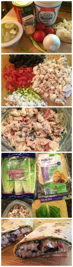 Greek Chicken Wraps - Clean eating frugal style #cleaneating.. minus black olives