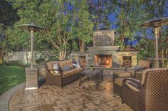 Ready for an easygoing evening by the fireplace at this Tustin abode - Listed by Jennifer Palmquist | First Team Real Estate