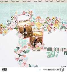 Scrapbooking Layout mit dem Februarkit | von Maria für www.danipeuss.de #danipeuss #scrapbooking #memorykeeping #papercrafting #basteln Project Life, You Get It, How To Get, Hey Girl, Scrapbooking Layouts, Inspiration, Paper, February, Projects