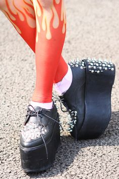 the stockings are WOAH  Jeffrey Campbell