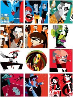 Le Pictographe : graphisme, peinture, photographie, publicité, typographie, bande-dessinée, cinéma, histoire, lecture, musique, sciences, nature