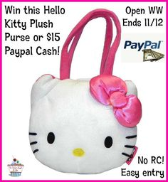 It's another EASY giveaway just for my readers!  No rafflecopter- just leave a comment to win! This is a Special HELLO KITTY giveaway!   No rafflecopter  Ends 11/12 WW