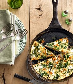 The whole family will gobble up this delicious and easy sweet potato kale frittata.