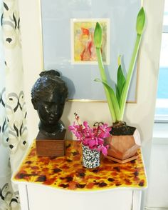 Little Green Notebook: Sponsored Post: DIY Tortoise Shell Resin Table Top