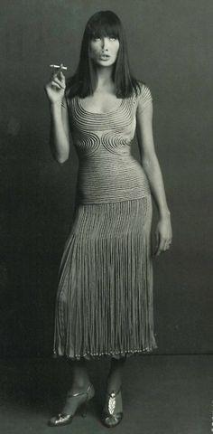 Carla Bruni in Valentino, Vogue Italia 1993