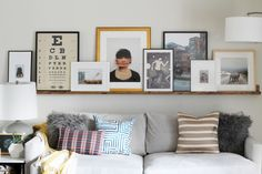 A Massive Wood Picture Ledge for the Living Room! | Chris Loves Julia