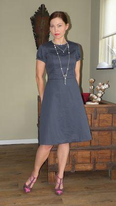 Burda magazine 10/2011 #125 'Little black dress with lace inset'