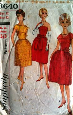 Sixties cocktail dress pattern