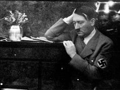 Adolf Hitler at the Berghof listening to the radio on the occasion of the plesbicite on the re-union of the Saarland with the German Reich - 1935. (via juliamuller1889)