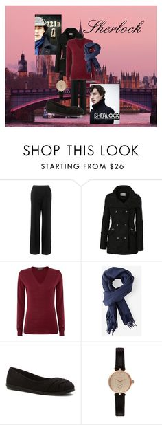 """""""Sherlock- Sherlock Holmes"""" by fangindiegirl on Polyvore featuring Whistles, LE3NO, John Smedley, Acne Studios, Blowfish, Barbour, sherlock, benedict and cumberbatch"""