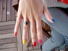 crie recicle faça moda: Unhas - Multicoloridas!!!