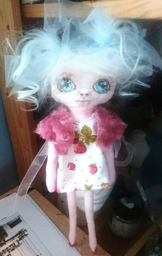 Mimsy,  rag doll.  Painted on face.