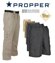 April Product of the Month: Propper Lightweight Tactical Shorts & Pants: Fade & Wrinkle Resistant Plus Repels Liquids, Ripstop Fabric *Pants come with FREE Matching Belt* Double Coin/Utility Pocket, Wallet Pocket-in-a-Pocket, Cell Phone or PDA Pocket, Reinforced Front Pocket. Propper Pants - http://www.nafeco.com/ProductDetails?ProductID=F525250-XX Propper Shorts - http://www.nafeco.com/ProductDetails?ProductID=F525350-XX