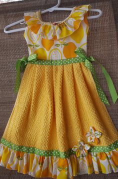 Amarillo limón limonada verano volantes horno puerta cocina