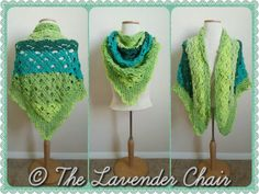 Gemstone Lace Triangular Shawl - Free Crochet Pattern - The Lavender Chair