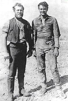 John Wayne and Ward Bond in The Big Trail (1930)