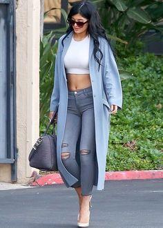 "kylizzlejennerfashionstyle: "" Kylie Jenner at Jenner Communications (Dec. 15) """
