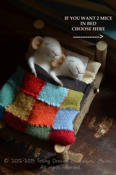 Sweet Dreams Little Mice felting dreams ready door feltingdreams
