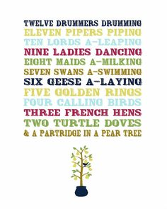 Admit it. You sang this. You didn't read it. Oh. And free Christmas printables.