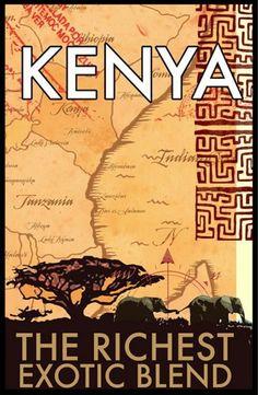 Travel Poster - Kenya, Africa