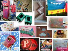 Recopilación de manualidades infantiles con cajas de cartón