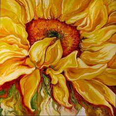 SUNFLOWER PAINTINGS | Art: SUNFLOWER 30 by Artist Marcia Baldwin