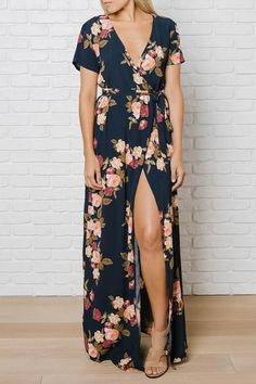 Zoey Wrap Front Maxi Dress | No Rest For Bridget