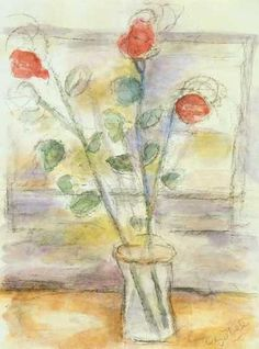 #BÉLA_CZÓBEL  *  RÓZSÁK Roses, Painting, Art, Fall Living Room, Exhibitions, Colors, Big Cats, Art Background, Pink