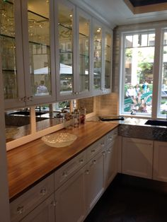 Designed By Mick De Giulio For House Beautiful Kitchen Of The Year Walnut  With Sapwood Edge Grain Countertops, Have A 1 ¼u201d High Riser At The Back  Edge With ...