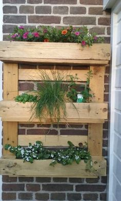Home made plantenbak van pallets