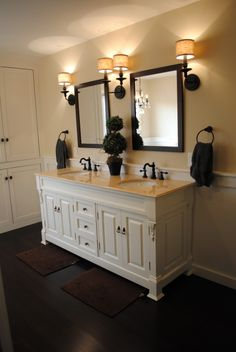 From Bj S 60 With One Sink I Like The Drawers Solid Wood Good Slides Comes Mirror And Top Aberdeen Pinterest Vanity