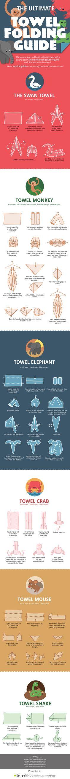 Folding Towel Animals