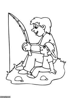 Fishing with Grandpa Coloring Page | crayola.com | Crayola ...