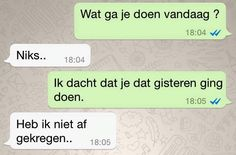 10 Grappige WhatsApp Berichten (Deel 2) Funny Pix, Haha Funny, Funny Texts, Funny Pictures, Hilarious, Lol, Funny Sports Quotes, Funny Quotes, Funny Conversations