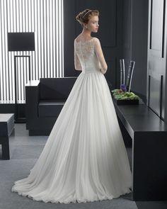 Relic novia tejido encaje pedrería flor y voile