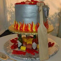 Crawfish boil cake!! Wedding Cake Images, Wedding Cakes, Wedding Ideas, Crawfish Season, Tabasco, Deli, Bakery, Sweet, Desserts