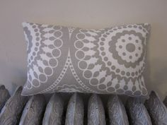 10x16 Grey and White Marrakech Print Decorative by hemdbymichelle, $25.00