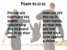 When I read this verse (Psalm 91:11-12) this is the visual that comes to mind! :)